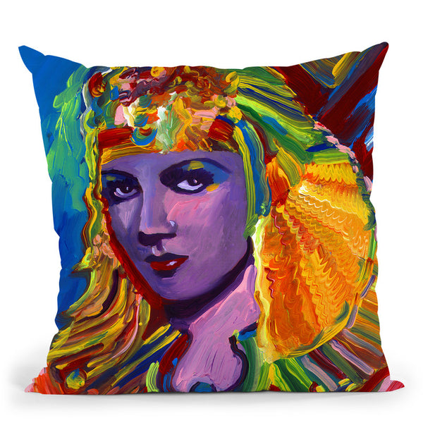 Claudette Colbert Cleopatra Throw Pillow By Howie Green - All About Vibe