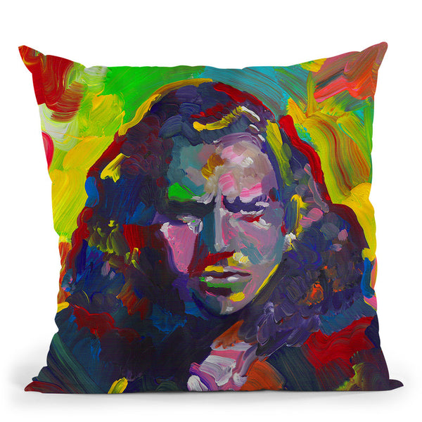 Eddie Vedder Throw Pillow By Howie Green - All About Vibe