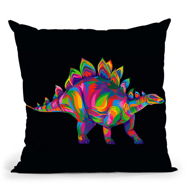 Stegosaurus Throw Pillow By Bob Weer - All About Vibe