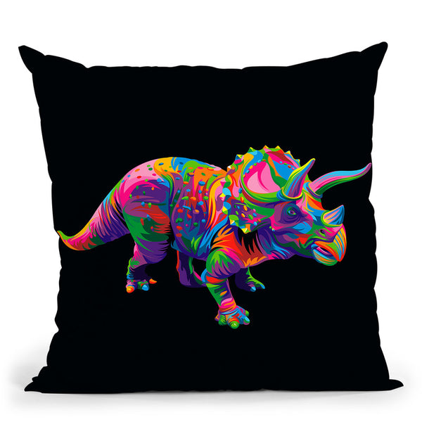 Triceratops Throw Pillow By Bob Weer - All About Vibe