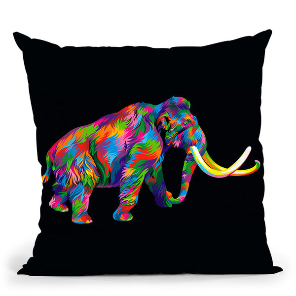 Wooly Mammoth Throw Pillow By Bob Weer - All About Vibe
