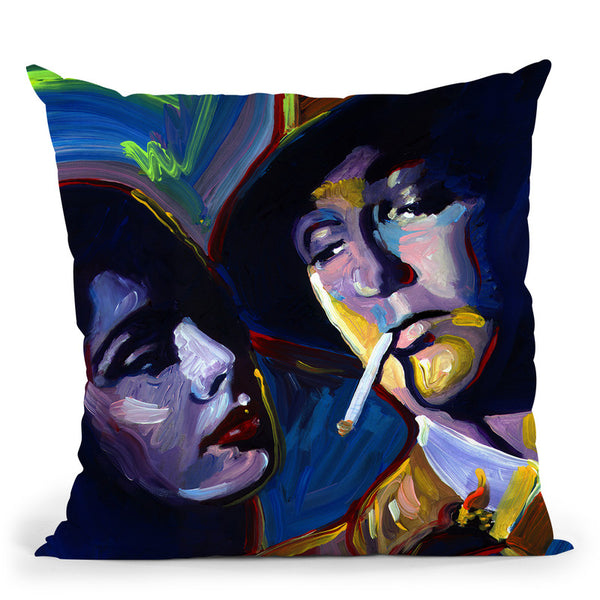 Robert Mitchum Film Noir Throw Pillow By Howie Green - All About Vibe
