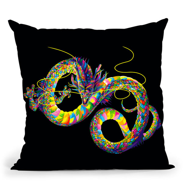 Chinese Dragon Throw Pillow By Bob Weer - All About Vibe
