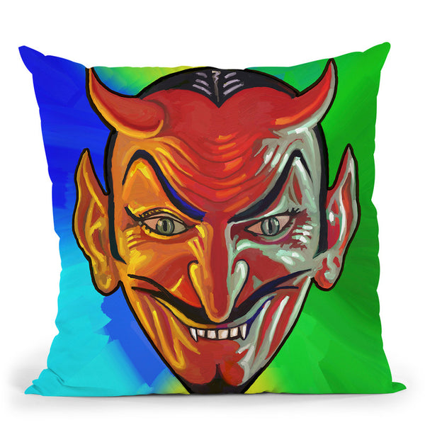 Pop-Art-Devil-Face Throw Pillow By Howie Green - All About Vibe