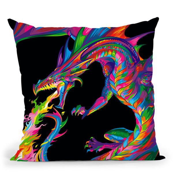 Fantasy Dragon Throw Pillow By Bob Weer - All About Vibe