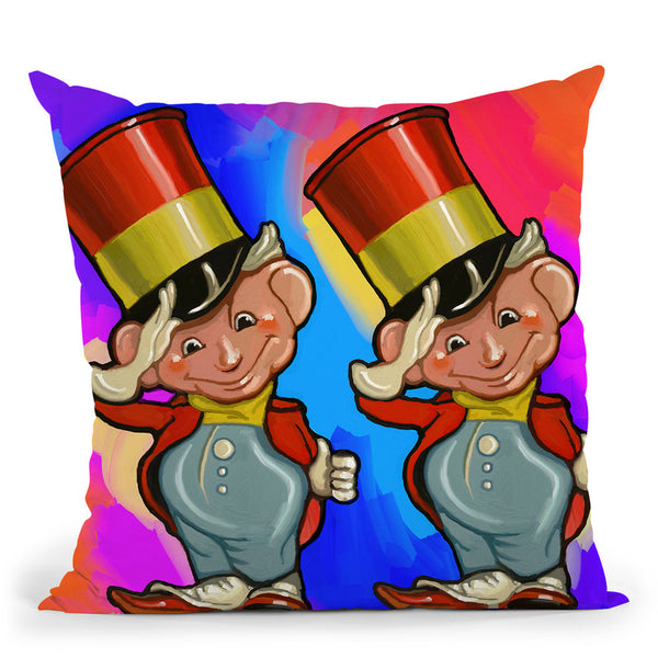 Pop-Art-Elf-Majors Throw Pillow By Howie Green - All About Vibe