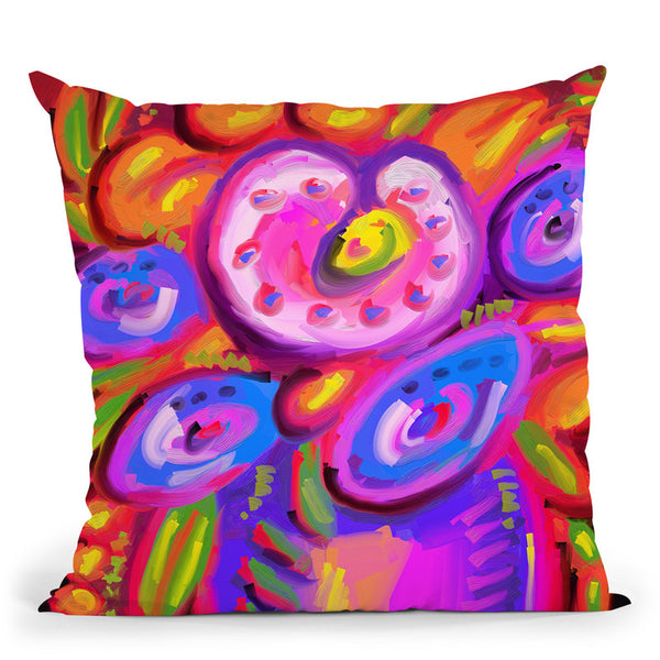 Pop-Art-Flowers-317 Throw Pillow By Howie Green - All About Vibe