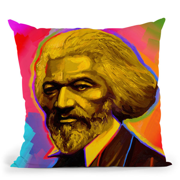 Pop-Art-Fredrick-Douglas Throw Pillow By Howie Green - All About Vibe