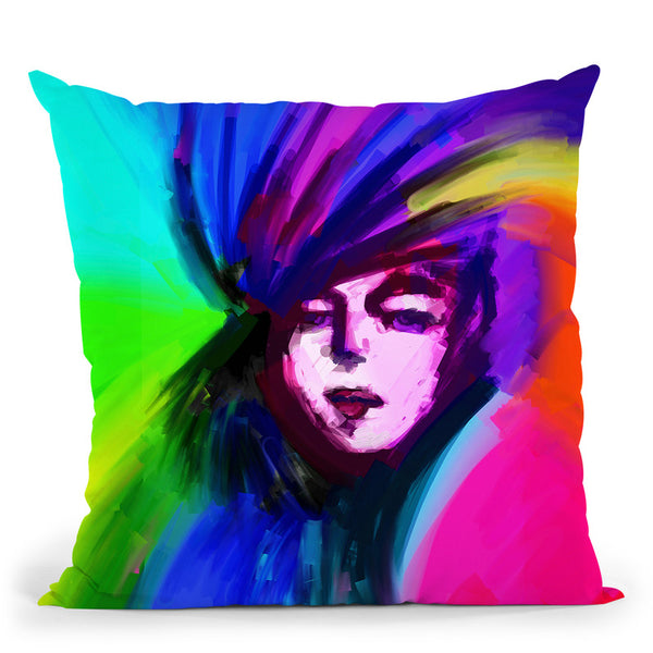 Pop-Art-Lady-217 Throw Pillow By Howie Green - All About Vibe