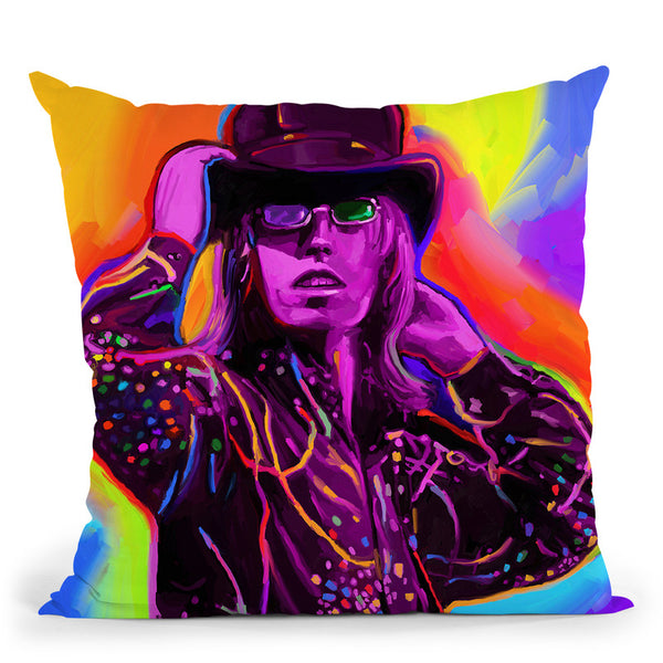 Pop-Art-Tom-Petty Throw Pillow By Howie Green - All About Vibe
