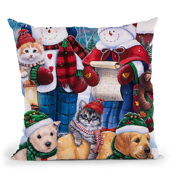 Winter Wonder Friends Throw Pillow By Jenny Newland - All About Vibe