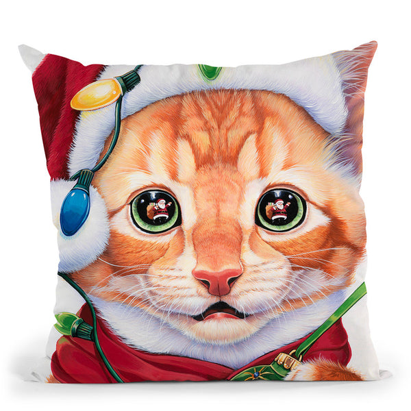 Uh Oh! Santa! Throw Pillow By Jenny Newland - All About Vibe