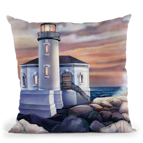 Lighthouse Throw Pillow By Jenny Newland - All About Vibe