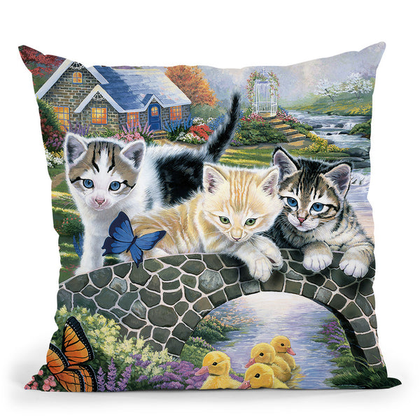 A Purrfect Day Throw Pillow By Jenny Newland - All About Vibe