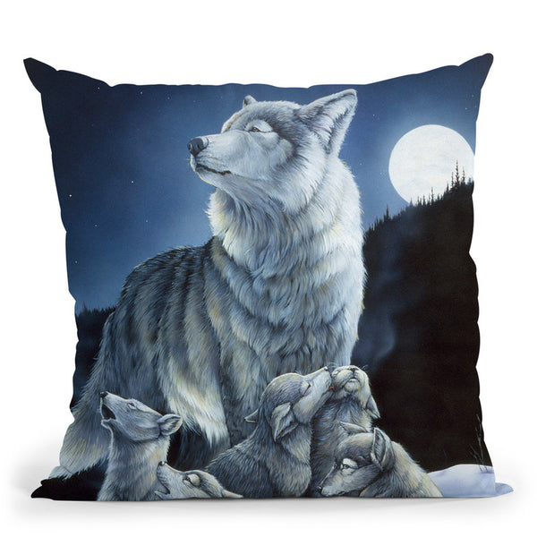Howling Lessons Throw Pillow By Jenny Newland - All About Vibe