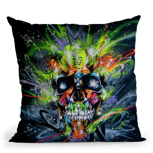 Neon Throw Pillow By Taka Sudo - All About Vibe