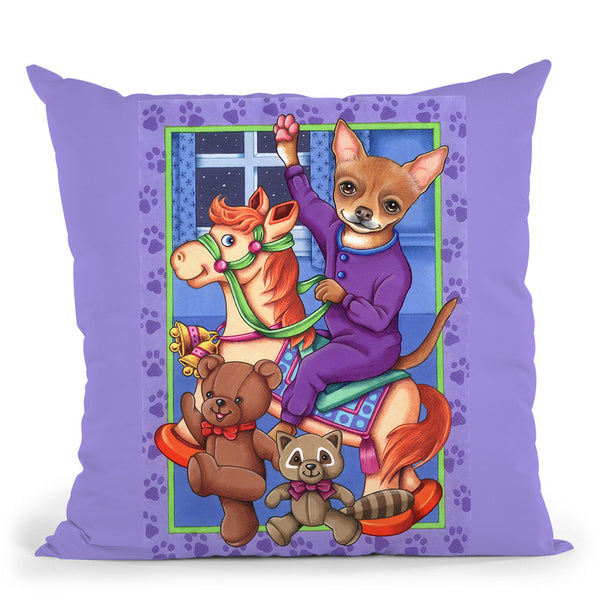 Chihuahua Toys Throw Pillow By Tomoyo Pitcher - All About Vibe