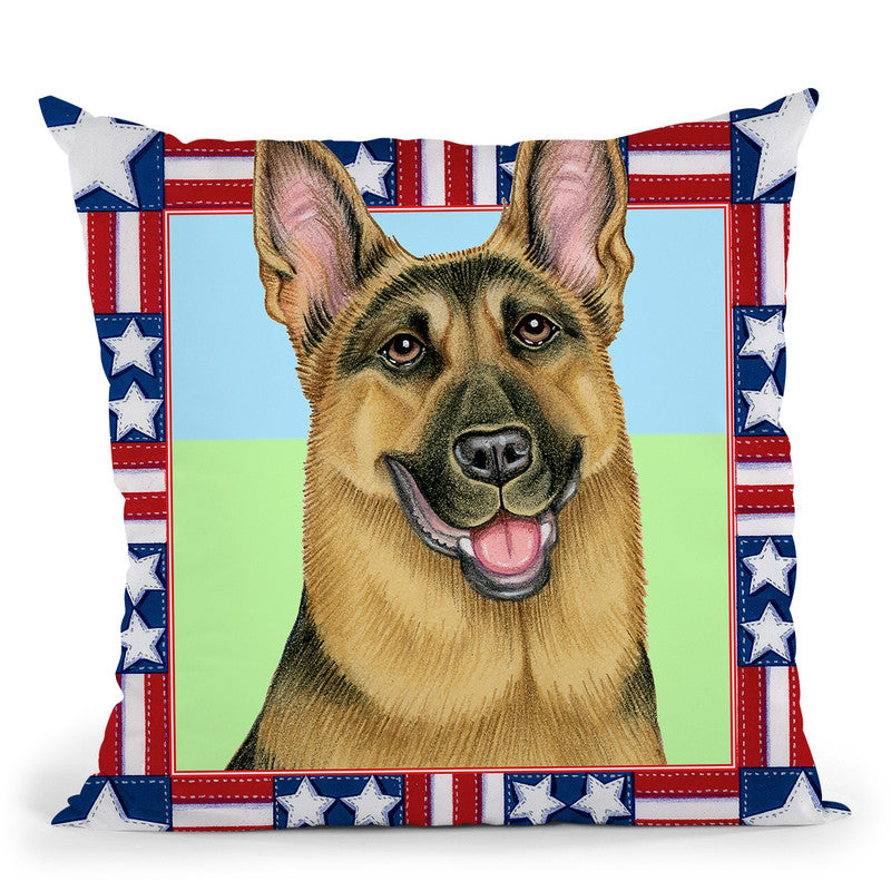 4Th Julyepherd Throw Pillow By Tomoyo Pitcher - All About Vibe