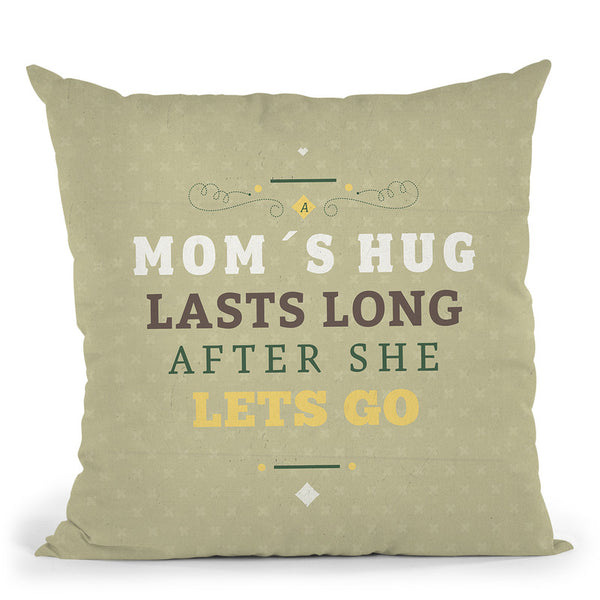 MomÕS Hug Throw Pillow By American Flat - All About Vibe