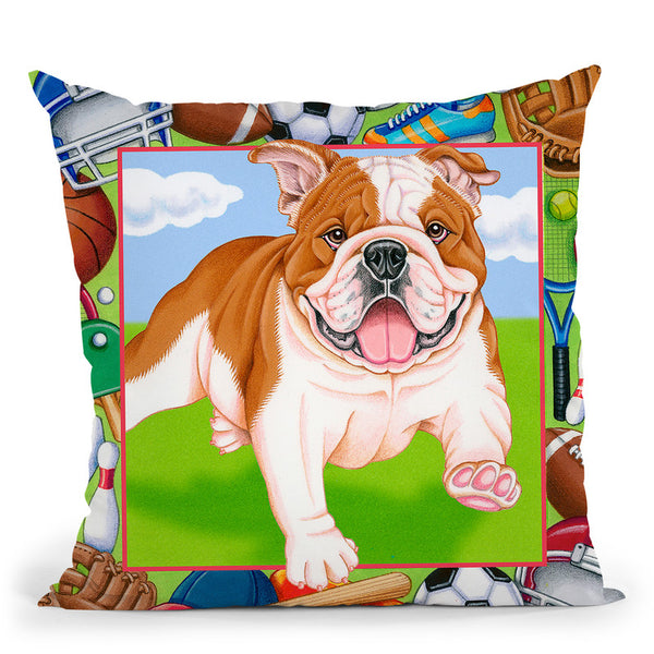 Sports Bulldog Throw Pillow By Tomoyo Pitcher - All About Vibe