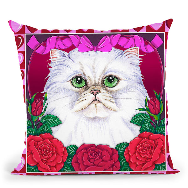 Valentines Persian Throw Pillow By Tomoyo Pitcher - All About Vibe