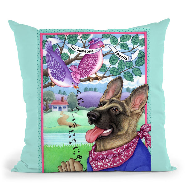 Shepherd Music Throw Pillow By Tomoyo Pitcher - All About Vibe