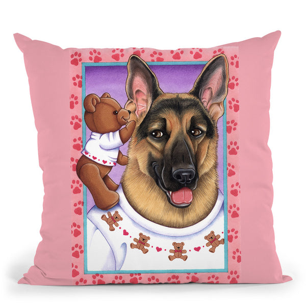 Shepherd Teddybear Throw Pillow By Tomoyo Pitcher - All About Vibe