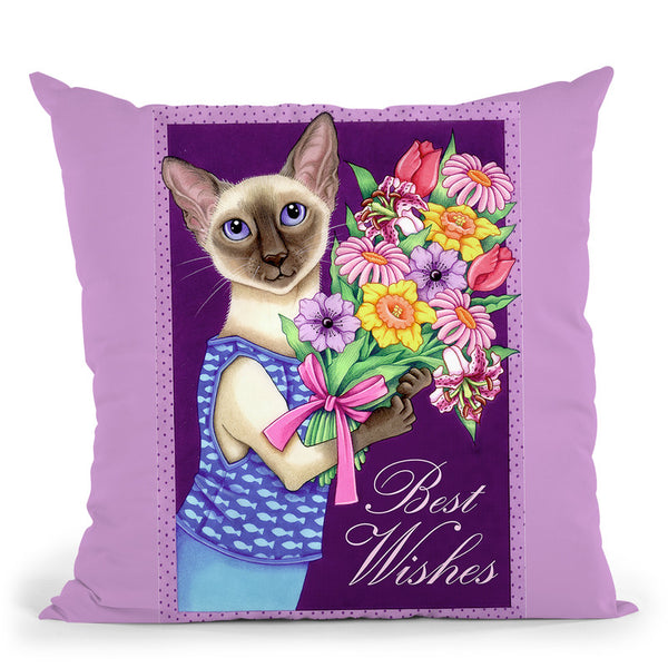 Siamese Flowers Throw Pillow By Tomoyo Pitcher - All About Vibe