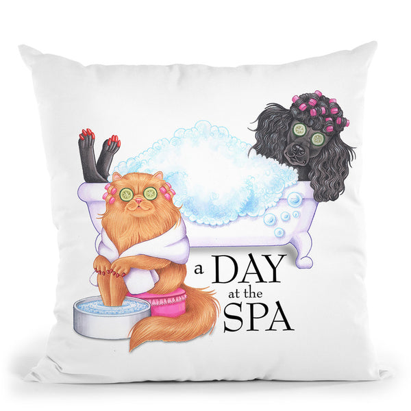 Spa Poodle Persian Throw Pillow By Tomoyo Pitcher - All About Vibe