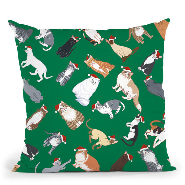 Cat Pattern 3 Throw Pillow By Tomoyo Pitcher - All About Vibe