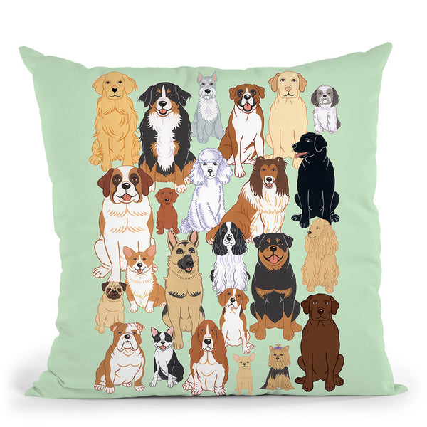 Dog Pattern 1 Throw Pillow By Tomoyo Pitcher - All About Vibe