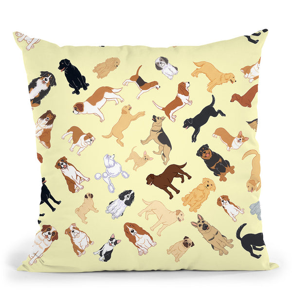 Dog Pattern 2 Throw Pillow By Tomoyo Pitcher - All About Vibe