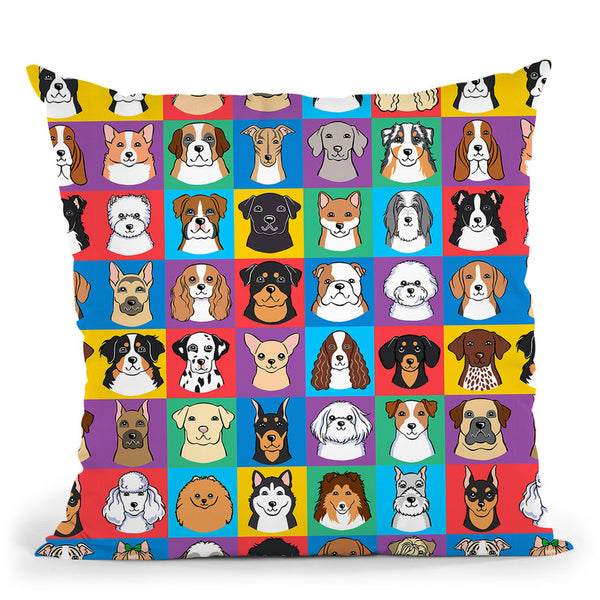 Dog Pattern 4 Throw Pillow By Tomoyo Pitcher - All About Vibe