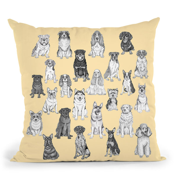 Dog Pattern 5 Throw Pillow By Tomoyo Pitcher - All About Vibe