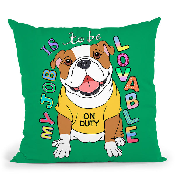 Bulldog Graphic Style Throw Pillow By Tomoyo Pitcher - All About Vibe
