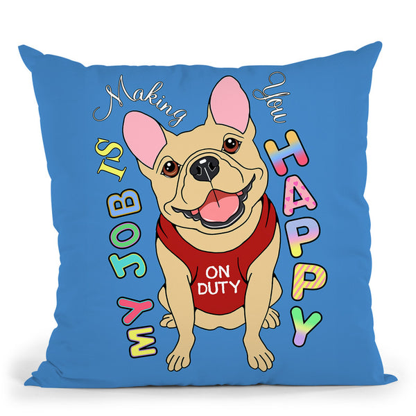 French Bulldog Graphic Style Throw Pillow By Tomoyo Pitcher - All About Vibe