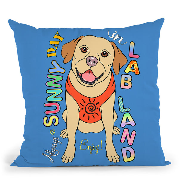 Labrador Graphic Style Throw Pillow By Tomoyo Pitcher - All About Vibe