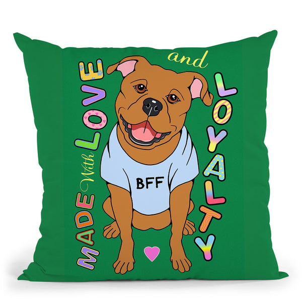 Pitbull Graphic Style Throw Pillow By Tomoyo Pitcher - All About Vibe