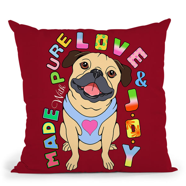Pug Graphic Style Throw Pillow By Tomoyo Pitcher - All About Vibe