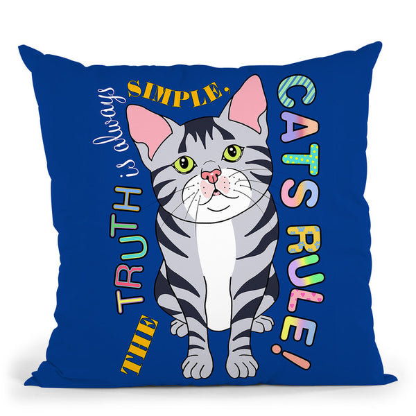 Tabby Cat Graphic Style Throw Pillow By Tomoyo Pitcher - All About Vibe