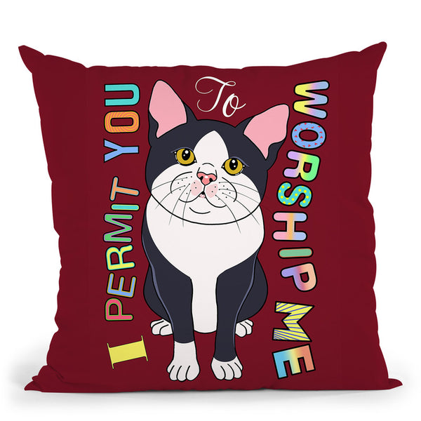 Tuxedo Cat Graphic Style Throw Pillow By Tomoyo Pitcher - All About Vibe