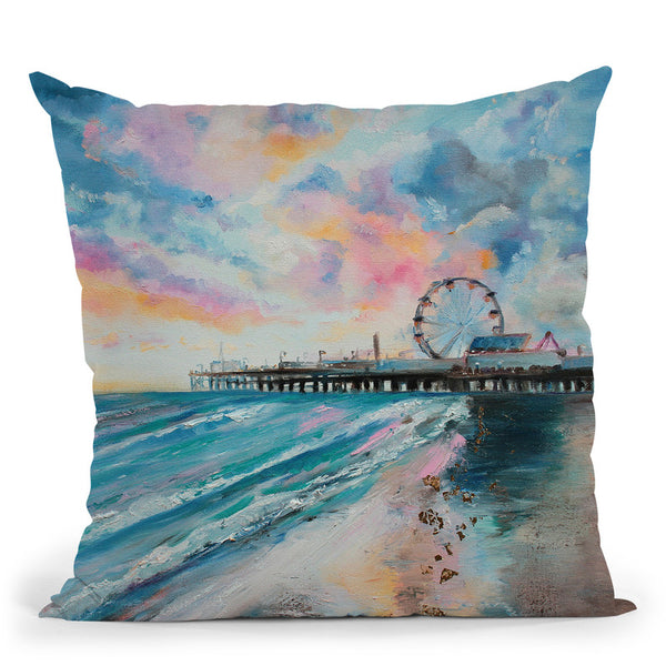 Candy Floss Throw Pillow By Emily Heard - All About Vibe
