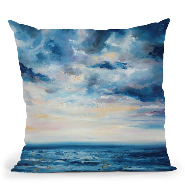 Deep Blue Throw Pillow By Emily Heard - All About Vibe