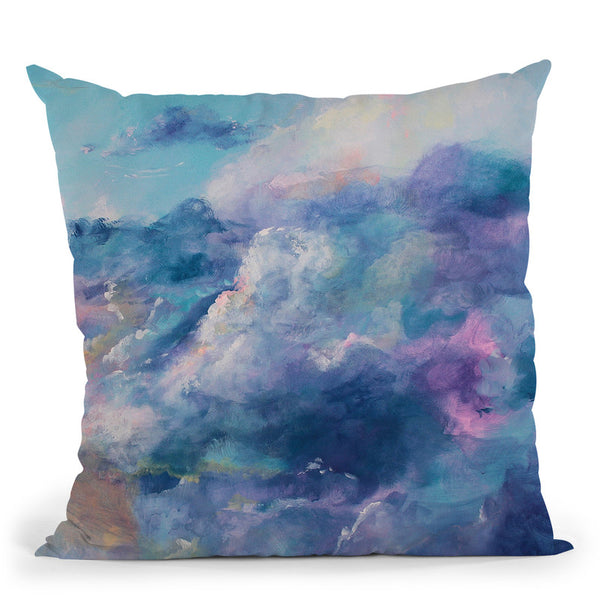 In The Clouds Throw Pillow By Emily Heard - All About Vibe