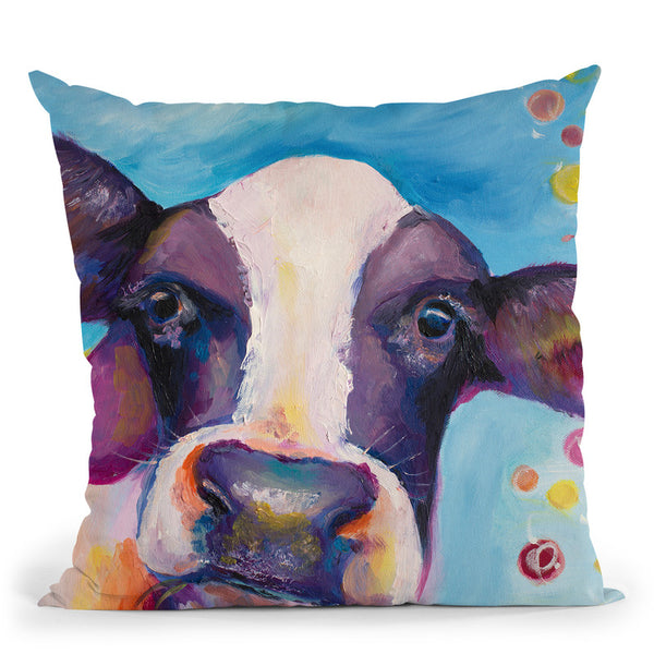 Mrs Cow Throw Pillow By Emily Heard - All About Vibe