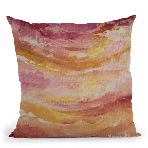 Sun Drenched Throw Pillow By Emily Heard - All About Vibe