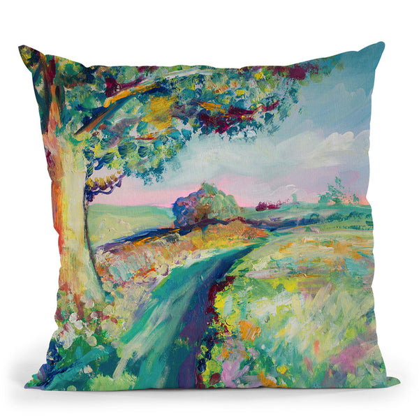 Tranquil Tree Throw Pillow By Emily Heard - All About Vibe