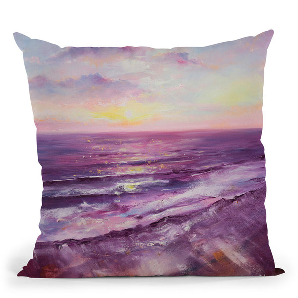 Violet Ocean Throw Pillow By Emily Heard - All About Vibe