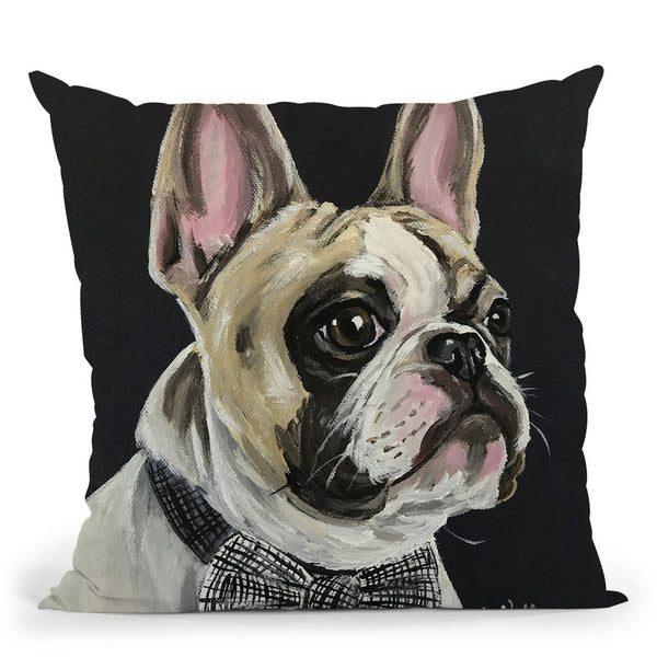 French Bulldog Spock 1 Throw Pillow By Hippie Hound Studios - All About Vibe