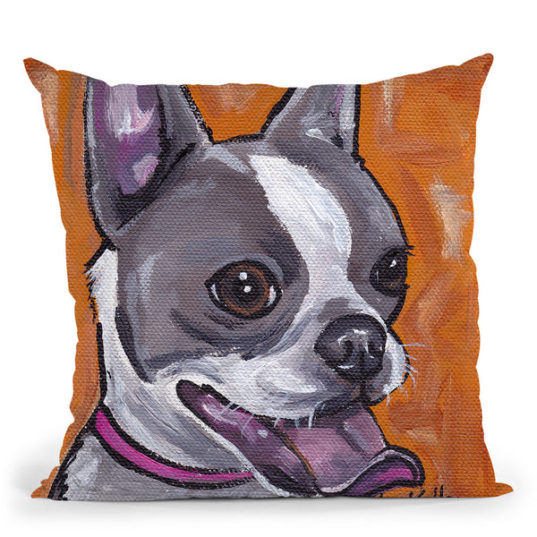 Frenchie Throw Pillow By Hippie Hound Studios - All About Vibe